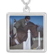Hunter Jumper Horse Necklace