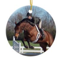 Hunter Jumper Horse Ornament