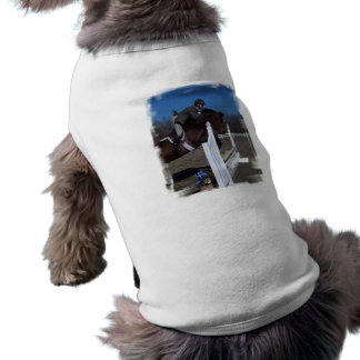 Hunter Jumper Horse Pet Tag Pet Tee Shirt