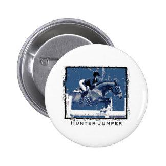 Hunter Jumper Horse Pinback Button