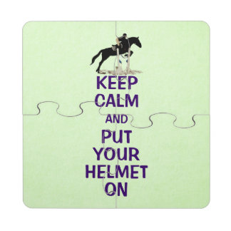 Hunter Jumper Horse Puzzle Coaster