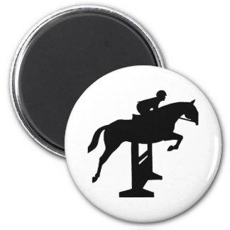 Hunter Jumper Horse & Rider 2 Inch Round Magnet