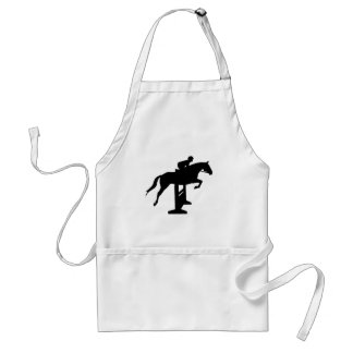 Hunter Jumper Horse & Rider Adult Apron