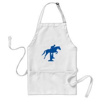 Hunter Jumper Horse & Rider (blue) Adult Apron