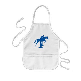 Hunter Jumper Horse & Rider (blue) Apron