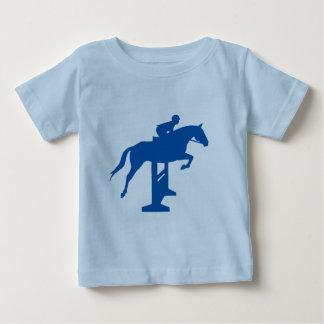 Hunter Jumper Horse & Rider (blue) Baby T-Shirt