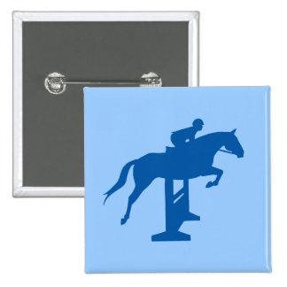 Hunter Jumper Horse Rider blue Buttons