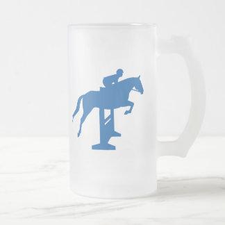 Hunter Jumper Horse & Rider (blue) Coffee Mug