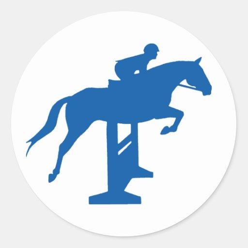 Hunter Jumper Horse & Rider (blue) Sticker