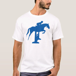 Hunter Jumper Horse & Rider (blue) T-Shirt