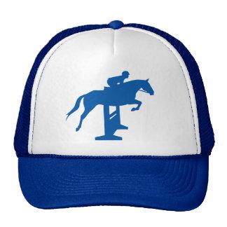 Hunter Jumper Horse & Rider (blue) Trucker Hat