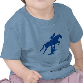Hunter Jumper Horse & Rider (blue) Tshirts