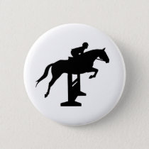Hunter Jumper Horse & Rider Button