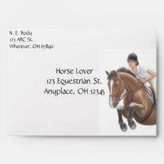 Hunter Jumper Horse & Rider Envelope