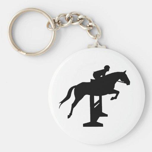 Hunter Jumper Horse & Rider Key Chains