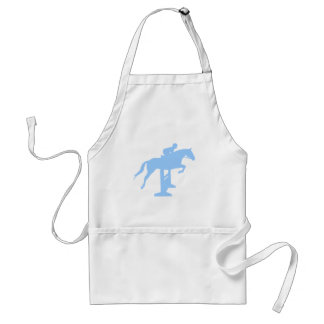 Hunter Jumper Horse & Rider (light blue) Adult Apron