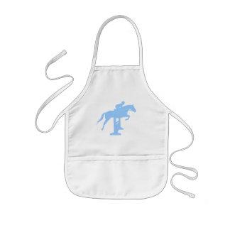 Hunter Jumper Horse & Rider (light blue) Aprons
