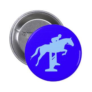 Hunter Jumper Horse Rider light blue Pins