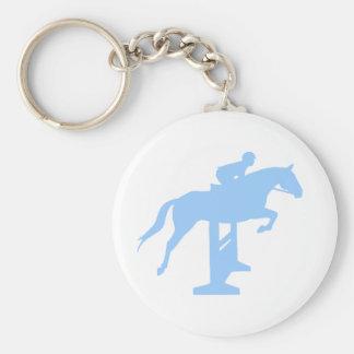 Hunter Jumper Horse & Rider (light blue) Keychains
