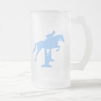 Hunter Jumper Horse & Rider (light blue) Coffee Mugs