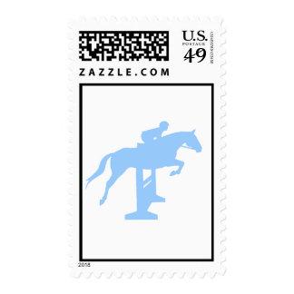 Hunter Jumper Horse & Rider (light blue) Stamp