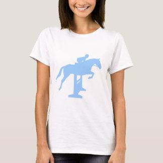 Hunter Jumper Horse & Rider (light blue) T-Shirt