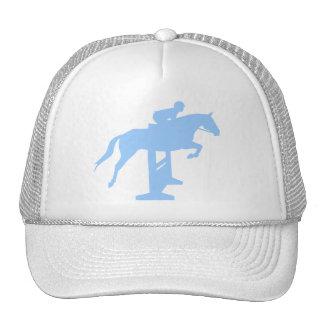 Hunter Jumper Horse & Rider (light blue) Trucker Hat
