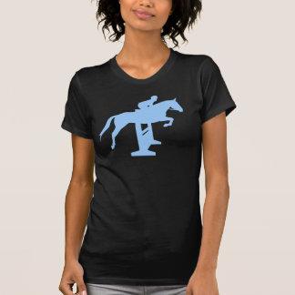 Hunter Jumper Horse & Rider (light blue) Tees