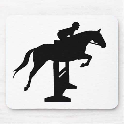 Hunter Jumper Horse & Rider Mouse Pad