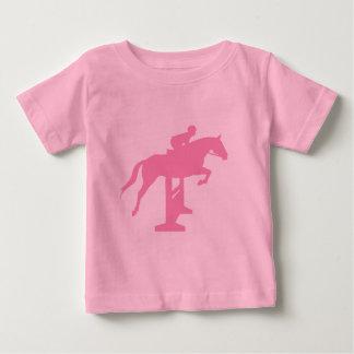 Hunter Jumper Horse & Rider (pink) Baby T-Shirt