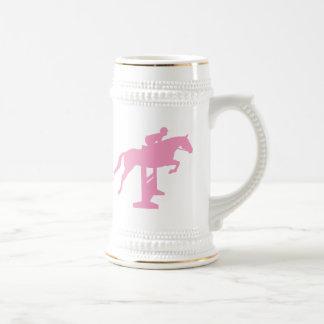 Hunter Jumper Horse & Rider (pink) Beer Stein