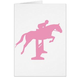 Hunter Jumper Horse & Rider (pink) Card