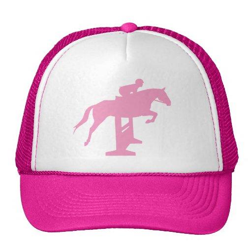 Hunter Jumper Horse & Rider (pink) Trucker Hat