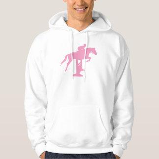 Hunter Jumper Horse & Rider (pink) Hoodie