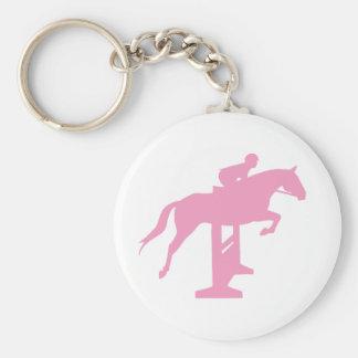 Hunter Jumper Horse & Rider (pink) Keychain