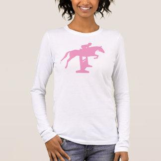 Hunter Jumper Horse & Rider (pink) Long Sleeve T-Shirt