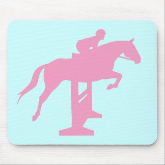 Hunter Jumper Horse & Rider (pink) Mousepad
