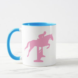 Hunter Jumper Horse & Rider (pink) Mug