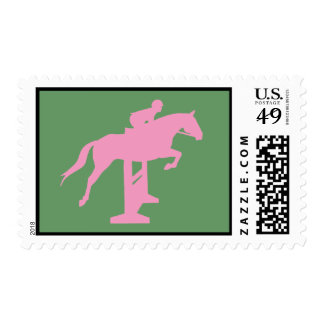 Hunter Jumper Horse & Rider (pink) Stamp