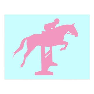 Hunter Jumper Horse Rider pink Postcards
