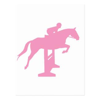 Hunter Jumper Horse Rider pink Post Cards