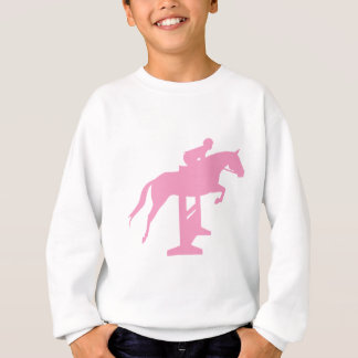 Hunter Jumper Horse & Rider (pink) Sweatshirt