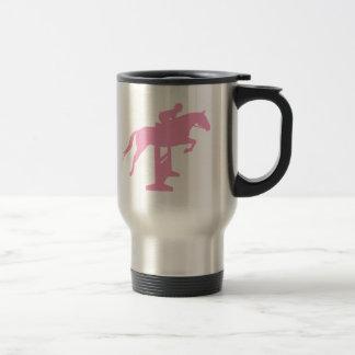 Hunter Jumper Horse & Rider (pink) Travel Mug
