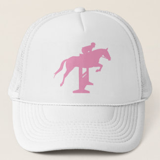 Hunter Jumper Horse & Rider (pink) Trucker Hat