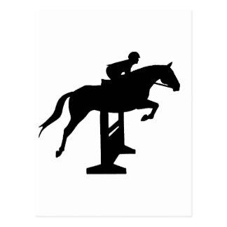 Hunter Jumper Horse & Rider Postcard