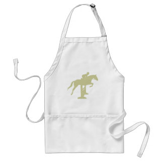 Hunter Jumper Horse & Rider (sage green) Gifts Adult Apron