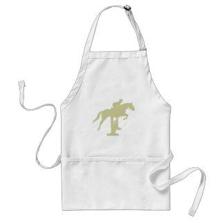 Hunter Jumper Horse & Rider (sage green) Gifts Apron