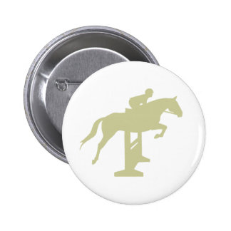 Hunter Jumper Horse & Rider (sage green) Gifts Pinback Button