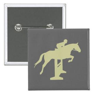 Hunter Jumper Horse Rider sage green Gifts Button