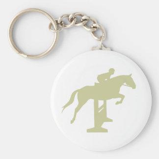 Hunter Jumper Horse & Rider (sage green) Gifts Keychain